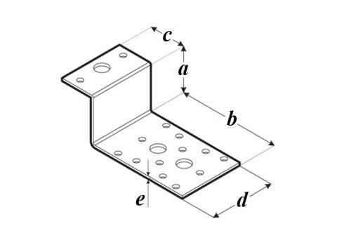 Крепление Z - образное LZ чертеж