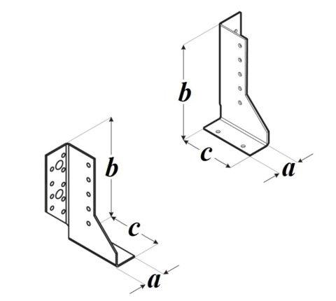 Крепление балок разрезное WBD чертеж