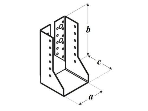 Крепление балок внутреннее WBZ чертеж