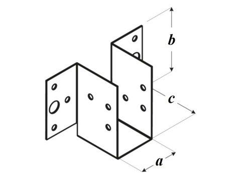 Крепление для легких балок WL чертеж
