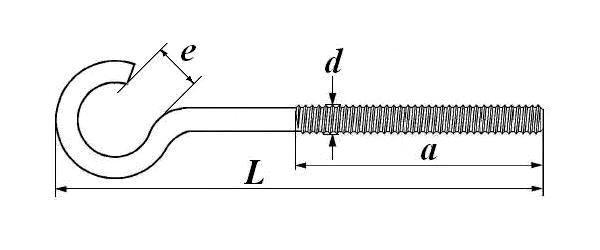 Полукольцо с метрической резьбой