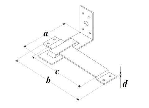 Скользящая опора стропил закрытая PAZ чертеж
