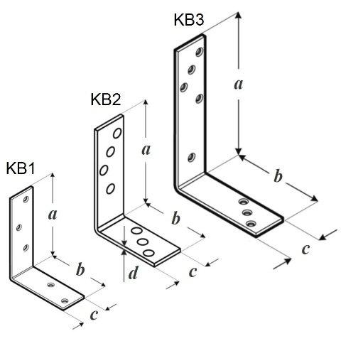 Уголок балочный KB чертеж