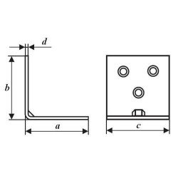 Уголок мебельный (УМ) чертеж